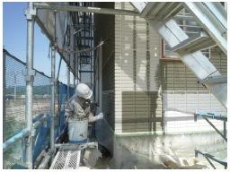1028外壁塗装工事状況です。